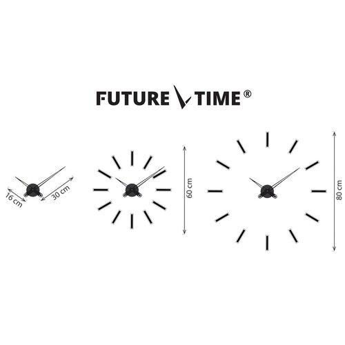 Future Time FT9600WH Modular white Dizájner öntapadó óra, átmérő: 60 cm