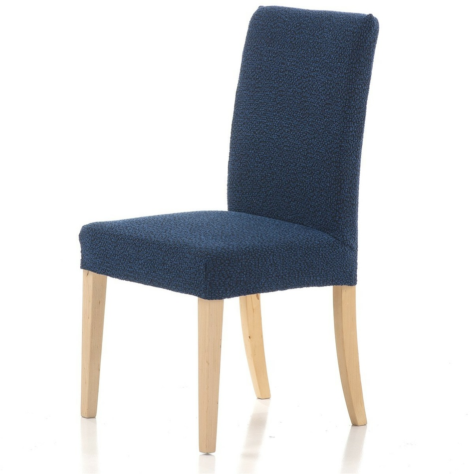 Multielastyczny pokrowiec na krzesło Petra  niebieski, 40 - 50 cm, zestaw 2 szt.
