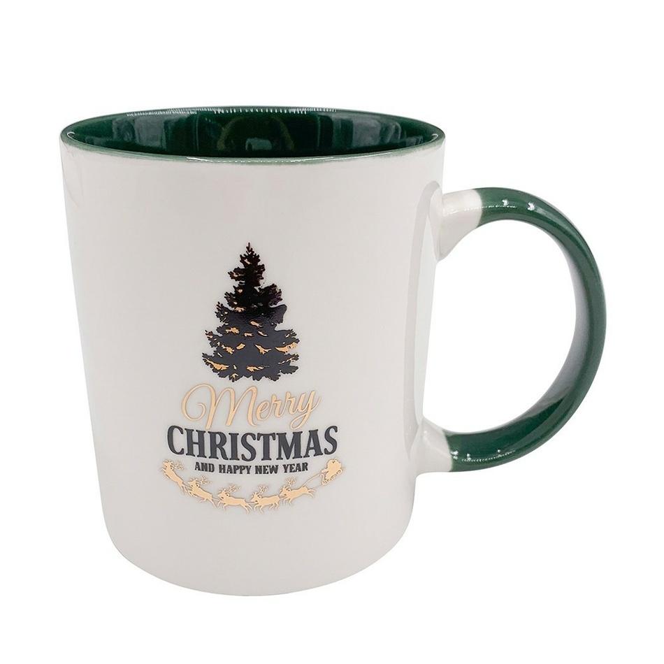 Altom Porcelánový hrnček Merry Christmas tree 330 ml