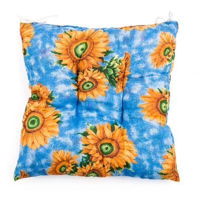 Sedák slunečnice modrá, 40 x 40 cm
