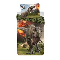 Pościel bawełniana Jurassic world Volcano, 140 x 200 cm, 70 x 90 cm
