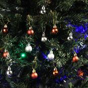 Plastové vánoční koule 2,5 cm, stříbrné, stříbrná