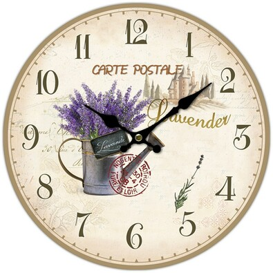 Nástěnné hodiny konvička s levadulí