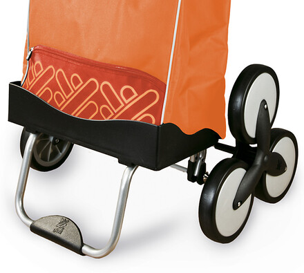 Nákupní taška na kolečkách, oranžová