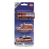 Siku Autós készlet Tűzoltók, 3 db-os
