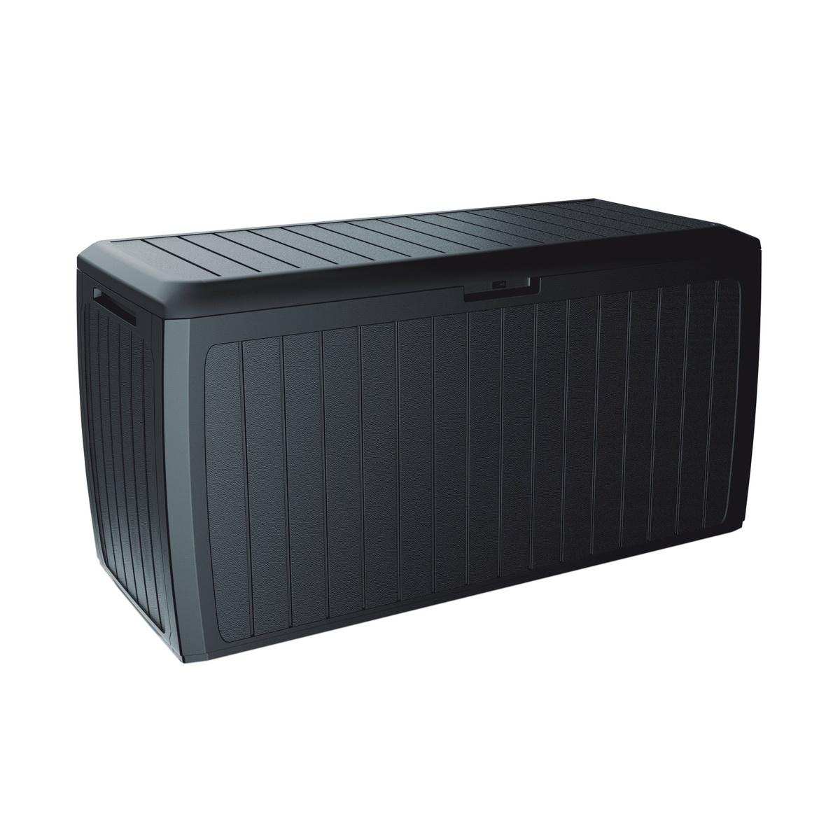 Záhradný úložný box Boxe Board antracit, 290 l, 116 cm