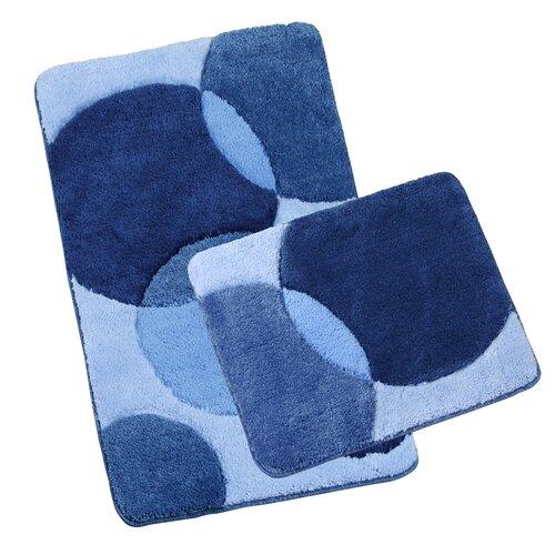 Set covorașe baie Ultra Bule albastre, 60 x 100 cm, 60 x 50 cm
