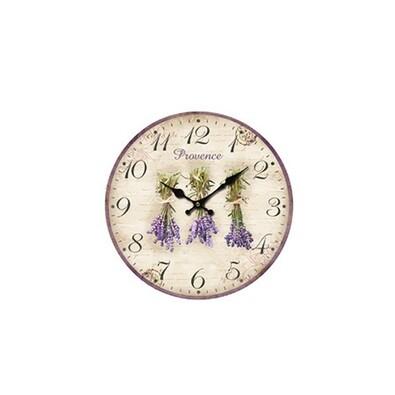 Nástěnné hodiny Levandule, 34 cm