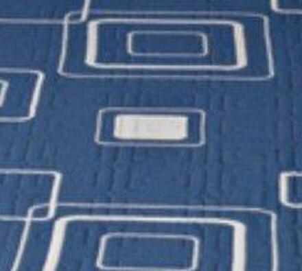 Přehoz na postel Amara, modrá, 240 x 260 cm