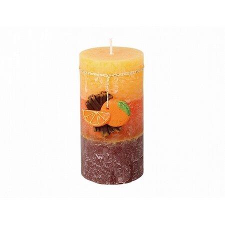 Dekorativní svíčka Skořice a pomeranč, 9 cm