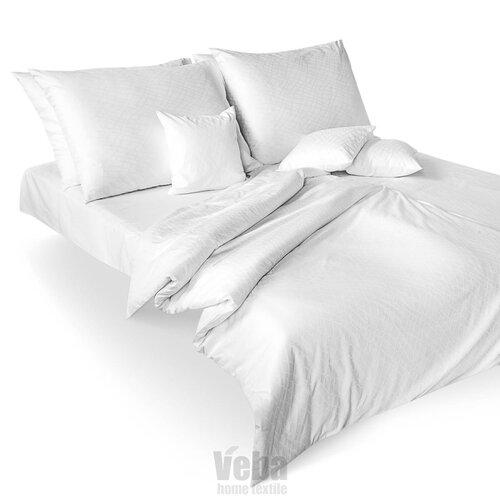 Veba Lenjerie de pat din damasc Geon Piele de reptilă, albă, 140 x 200 cm, 70 x 90 cm