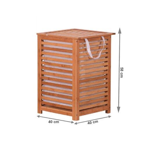 Lakovaný bambusový koš na špinavé prádlo Basket