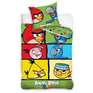 Dětské bavlněné povlečení Angry Birds 7007, 140 x 200 cm, 70 x 80 cm
