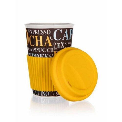Banquet Kubek ceramiczny z pokrywą GO, 400 ml