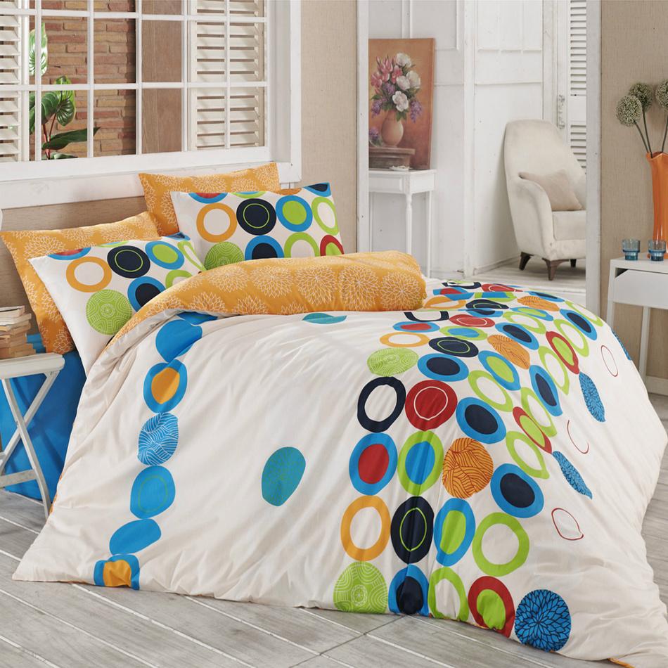 Night in Colours Bavlnené obliečky Beneton oranžová, 140 x 200 cm, 70 x 90 cm, 140 x 200 cm, 70 x 90 cm