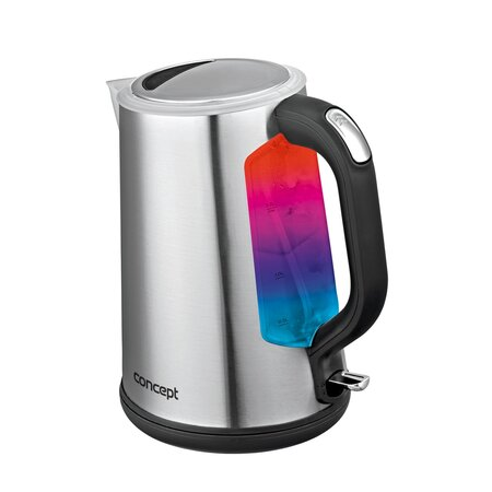 Concept RK3200 rozsdamentes acél vízforraló színes háttérvilágítással, 1,7 l