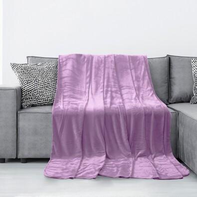 Pătură AmeliaHome Tyler, violet, 150 x 200 cm