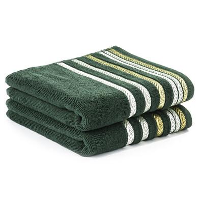4Home ručník Bianna zelená, 50 x 90 cm, sada 2 ks