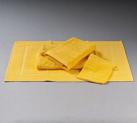 Sada ručníků Combo žlutá, sada 5 ks