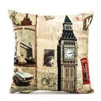 Poszewka na poduszkę London City stamp, 45 x  45 cm