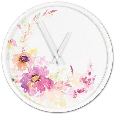Nástenné hodiny Flower parade, pr. 30,5 cm