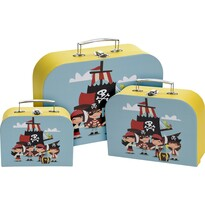 Set valize pentru copii Pirate, 3 buc.