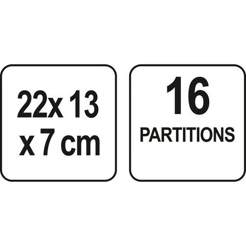 Fala Kozmetický organizér Chystal 4, 22 x 13 x 7 cm