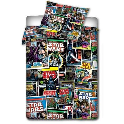 Dětské bavlněné povlečení Star Wars - Komiks, 140 x 200 cm, 70 x 80 cm