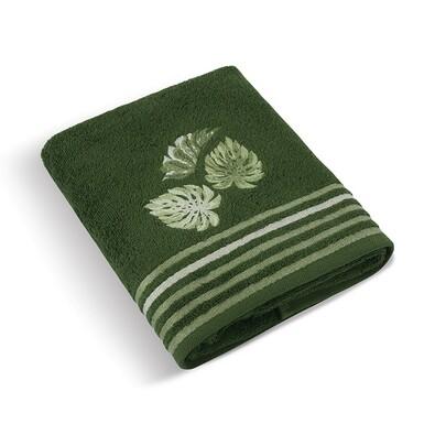 Ręcznik kąpielowy Monstera zielony, 70 x 140 cm