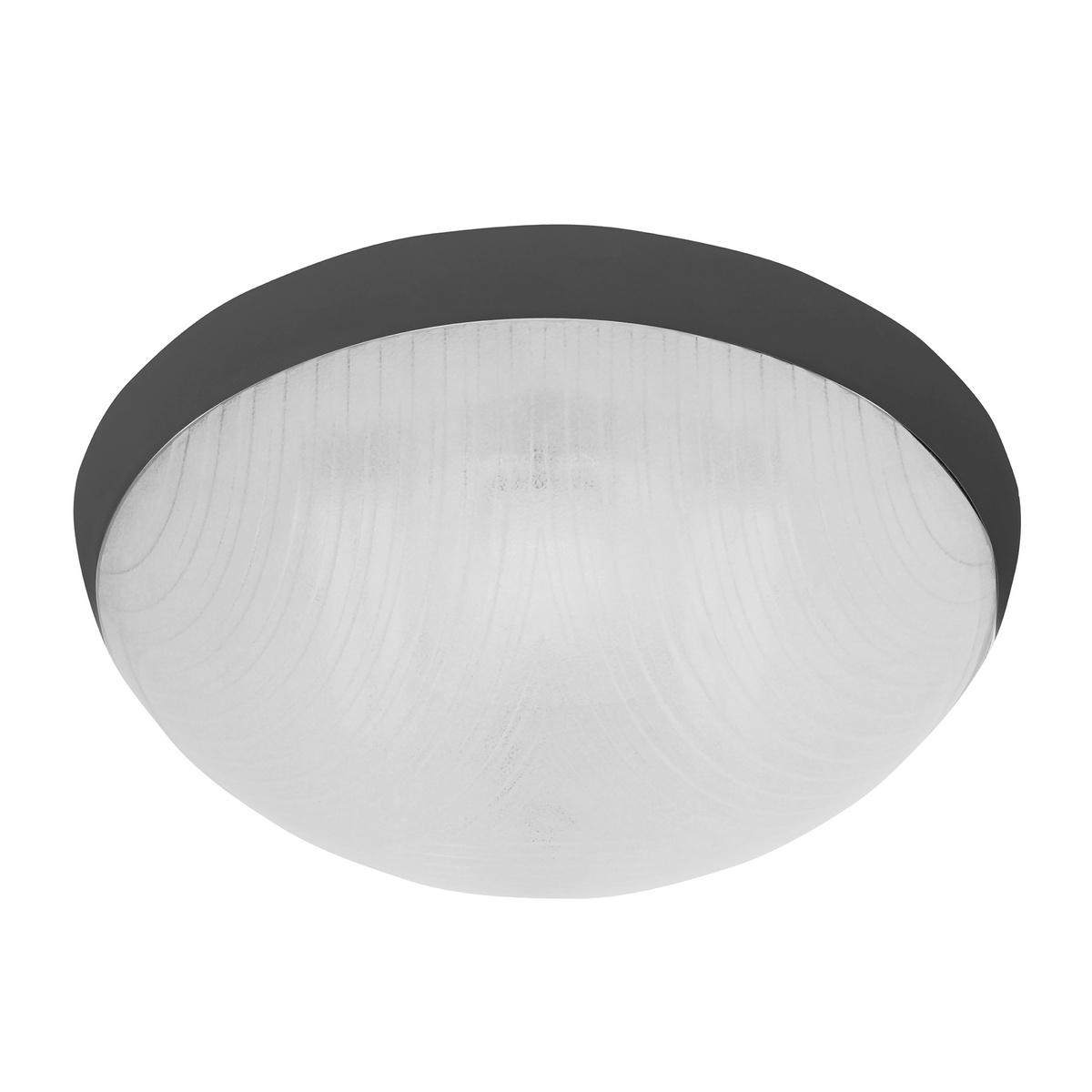 GALIA peisadené stropné a nástenné kruhové svetlo 75W, čierna, Panlux