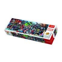 Puzzle panoramic Trefl Lumea Marvel, 1000 piese