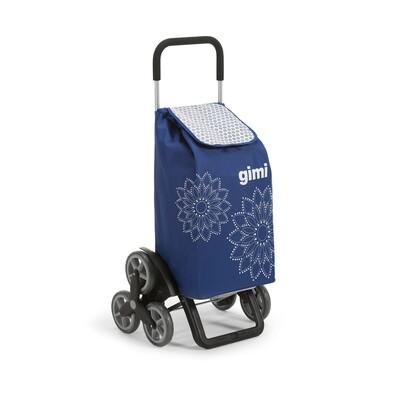Gimi Tris Floral nákupní taška na kolečkách modrá