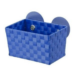Wenko košík s přísavkami tmavě modrá