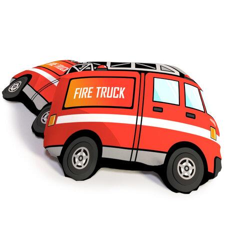 Tűzoltók formázott 3D párna, 40 x 50 cm
