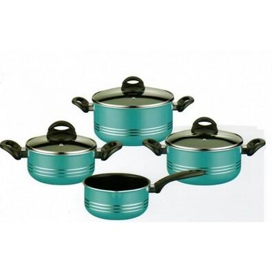 7-dílná sada nádobí Milano color - Tyrkys