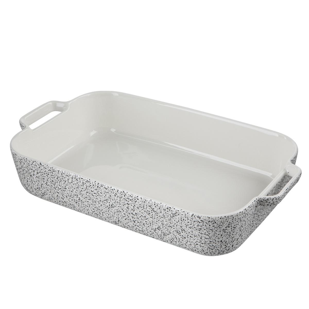 Altom Zapékací mísa Granit 30 x 17,5 x 6,5 cm, bílá, 30 x 17,5 x 6,5 cm