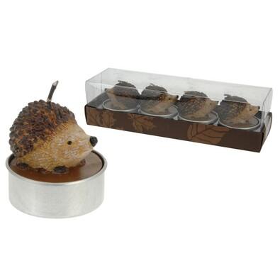 Čajové svíčky ozdobné ježek 4 ks