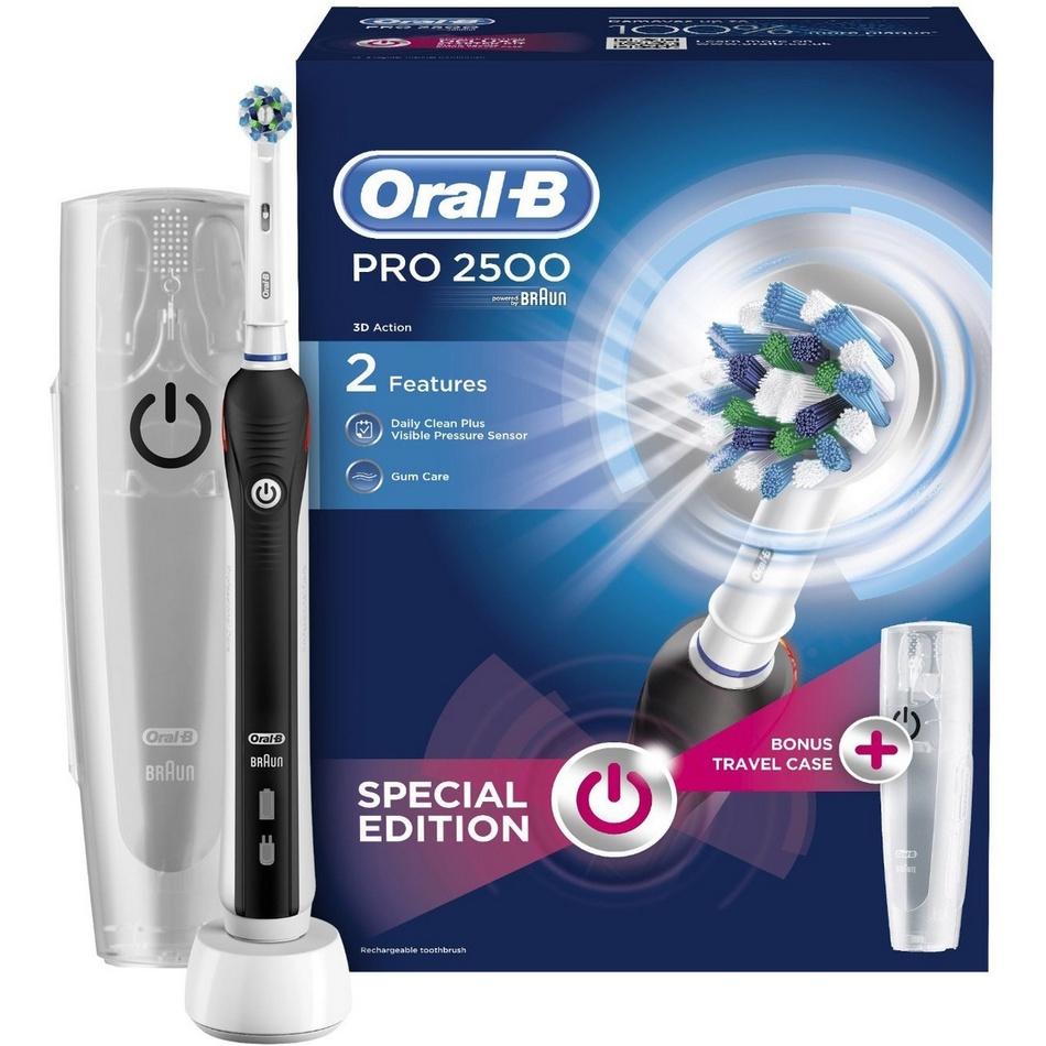 Oral-B Pro 2500 černý zubní kartáček