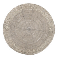 Alátét gyöngyökből, ezüst, 30 cm