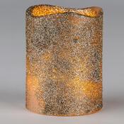 LED svíčka zlatá se třpytkami