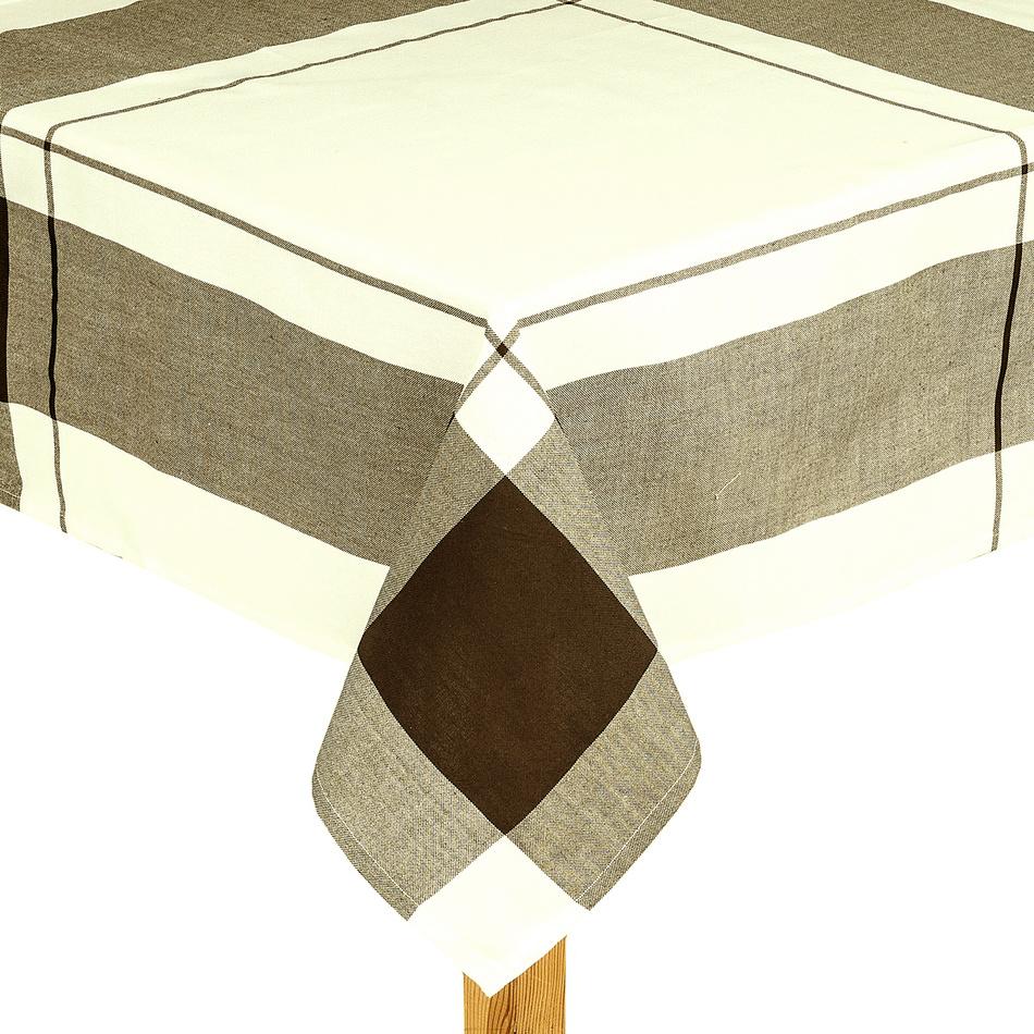 Forbyt Ubrus kostka hnědá, 140 x 180 cm, 140 x 180 cm