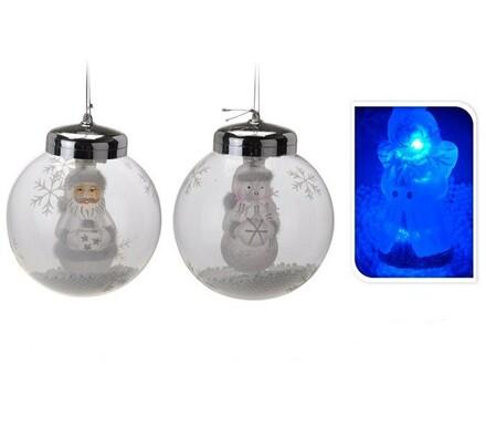 Vánoční ozdoba s LED osvětlením, transparentní, pr. 11 cm