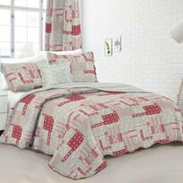 Cuvertură de pat Country stil, roz, 140 x 200 cm, 50 x70 cm