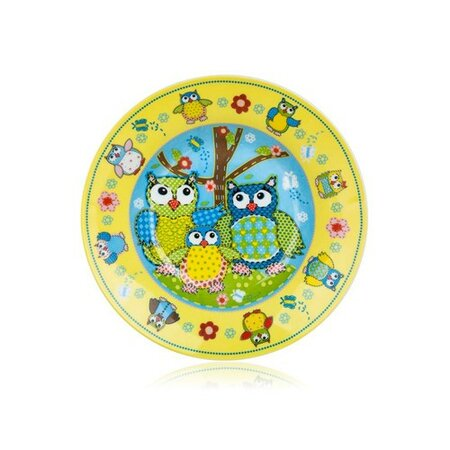 Banquet Talíř dětský keramika hluboký OWLS 20 cm