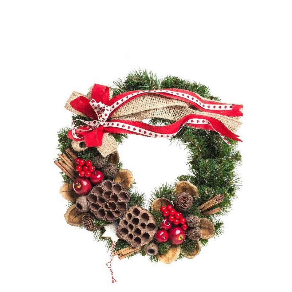 Vánoční věnec Canella zelená, pr. 25 cm