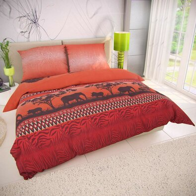 Kvalitex Afrika pamut ágynemű, 220 x 200 cm, 2 db 70 x 90 cm