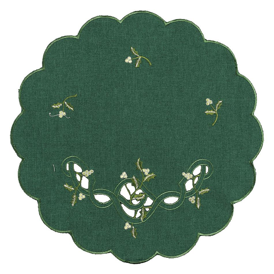 Forbyt Vianočný obrus imelo zelená, pr. 35 cm