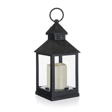Felinar Home Decor. cu lumânare LED, 10 x 10 x 23 cm