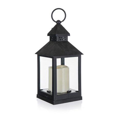 Home Decor Latarnia ze świeczką LED, 10 x 10 x 23 cm