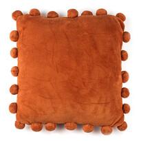 Pernă Pompon portocaliu, 45 x 45 cm